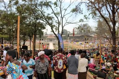 Pilgrims in Namugongo