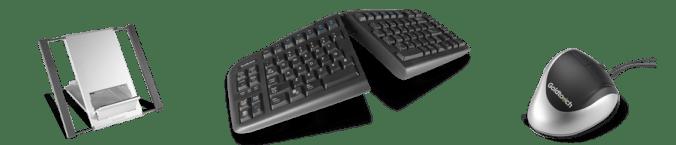 符合人体工程学的平板电脑,键盘和鼠标