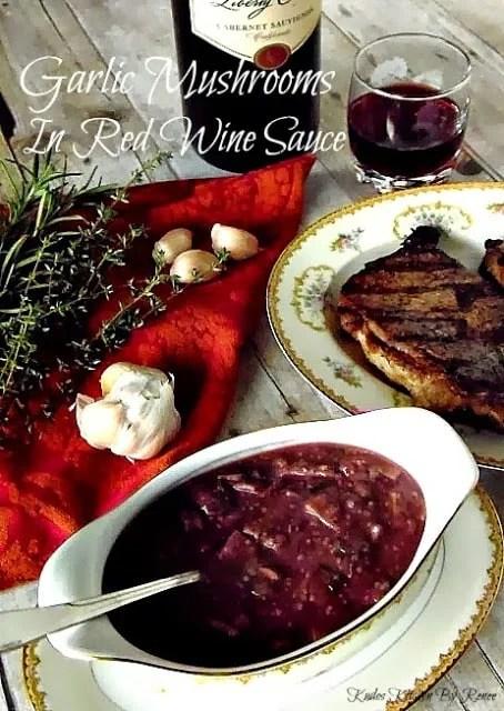 Garlic Mushrooms In Red Wine Sauce Recipe
