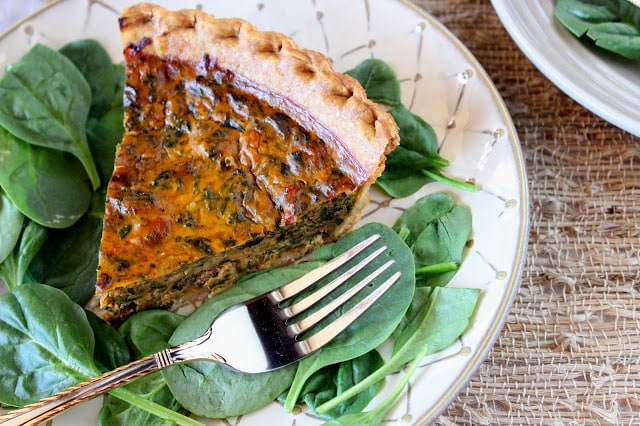 Pumpkin and Spinach Quiche Recipe