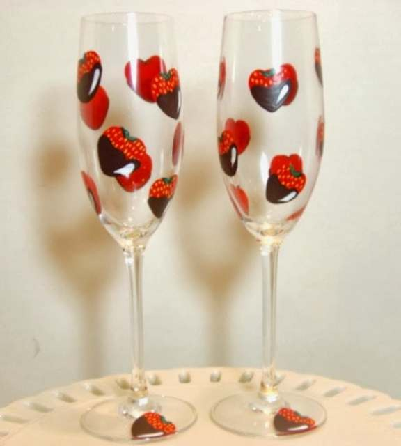 Kudos Kitchen By Renee - Chocolate Covered Strawberry Champagne Flutes