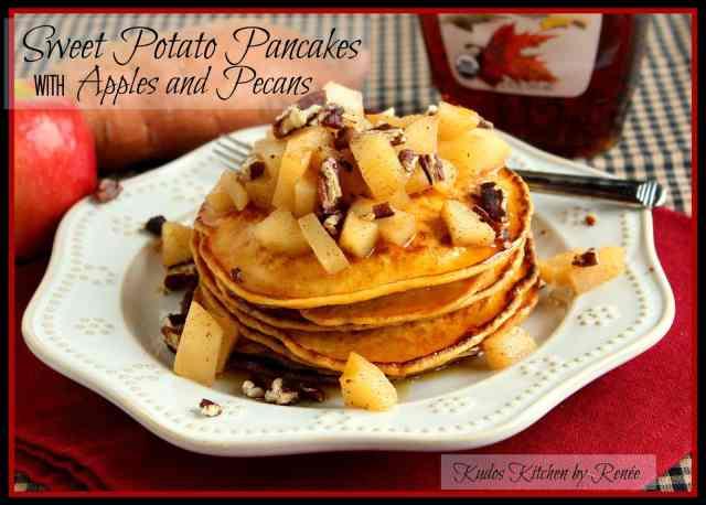 Sweet Potato Pancake Recipe via kudoskitchenbyrenee.com
