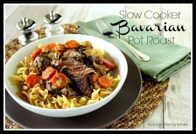 Slow Cooker Bavarian Pot Roast via kudoskitchebyrenee.com