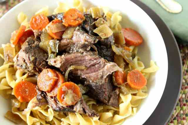 Slow Cooker Bavarian Pot Roast via kudoskitchenbyrenee.com