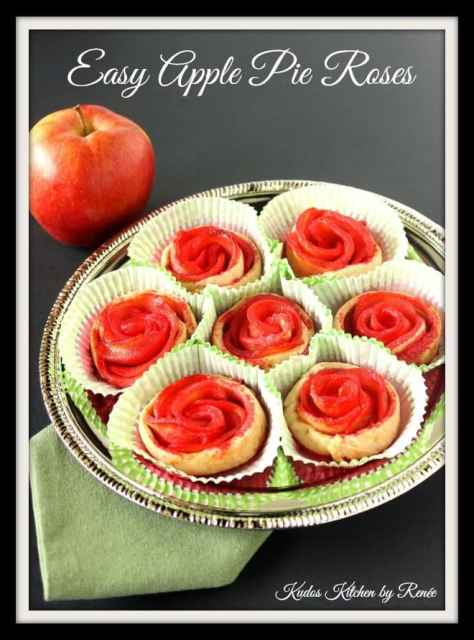 Easy Apple Pie Roses Recipe via kudoskitchenbyrenee.com