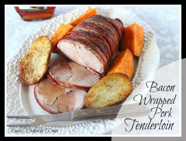 Bacon Wrapped Pork Tenderloin is fancy enough for company.
