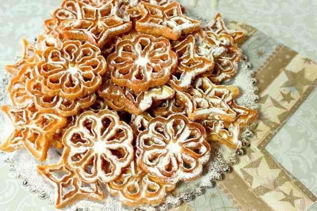 Rosette Snowflake Cookie Recipe