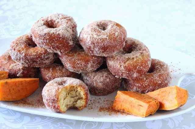 Mashed Sweet Potato Donuts Recipe