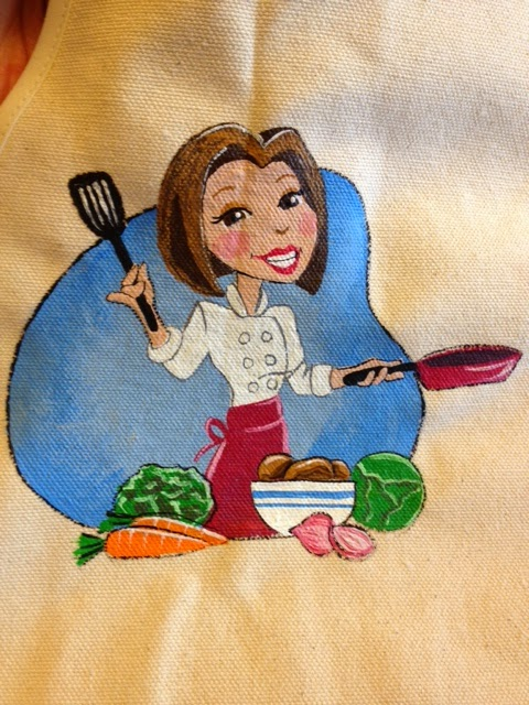 Kudos Kitchen by Renee Hand Painted Logo Apron