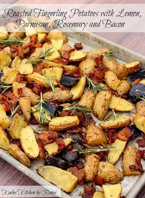 Bacon Roasted Fingerling Potatoes with Herbs