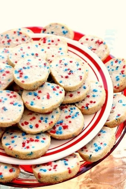 Patriotic Cream Cheese Cookies