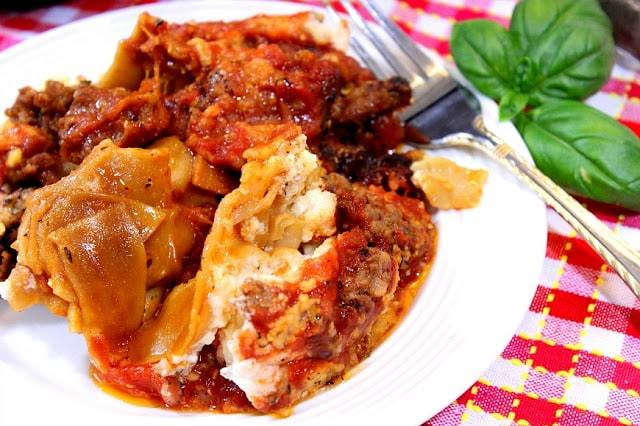 Slow Cooker Meatball Lasagna and Whole Grain Crock Pot Sausage Lasagna - kudoskitchenbyrenee.com