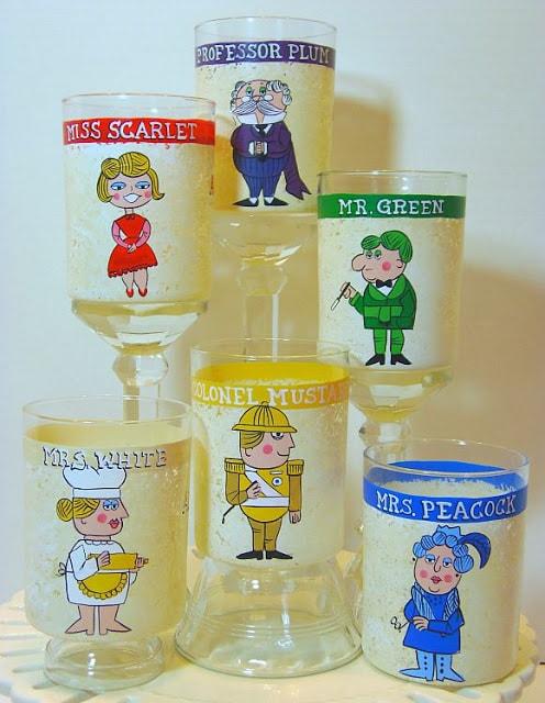Set of 6 Clue Character Glasses