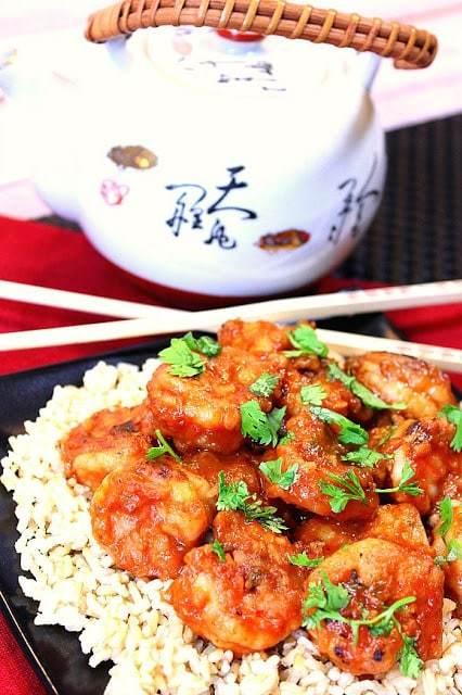 Sweet Chili Shrimp with Ginger & Cilantro - www.kudoskitchenbyrenee.com