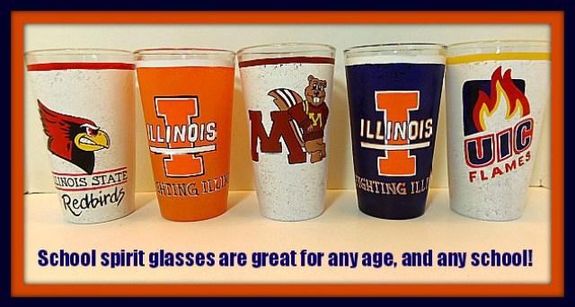 School Spirit Painted Glassware