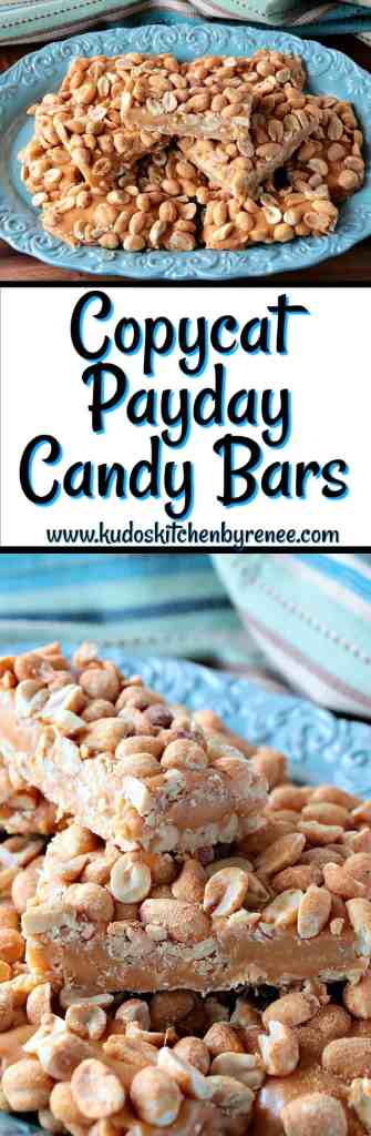 These Fast & Easy Copycat Payday Candy Bars taste just like the original. You're going to love them! - www.kudoskitchenbyrenee.com