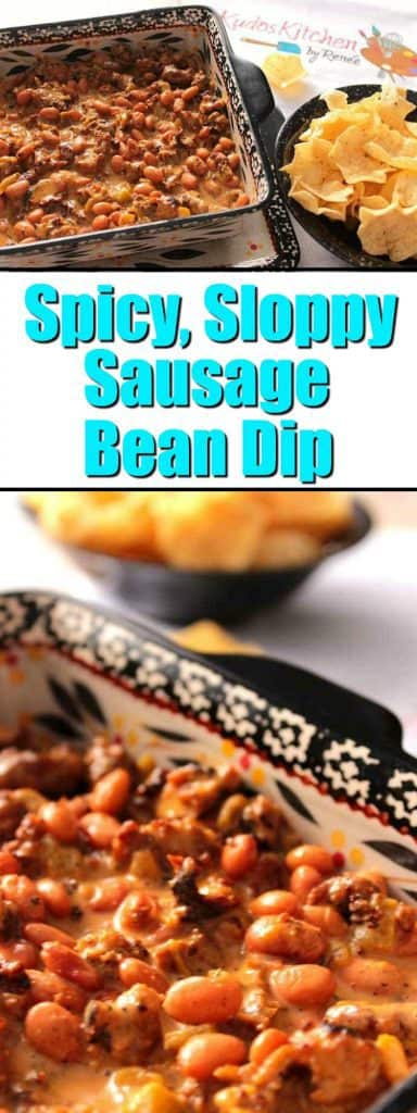 Sloppy Sausage Bean Dip - www.kudoskitchenbyrenee.com