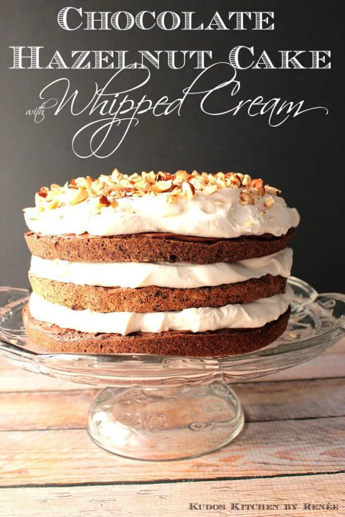 Chocolate Hazelnut Spread with Cake and Whipped Cream