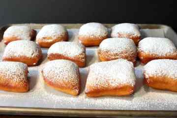 Powdered Sugar Beignets for Mardi Gras Recipe   Kudos Kitchen