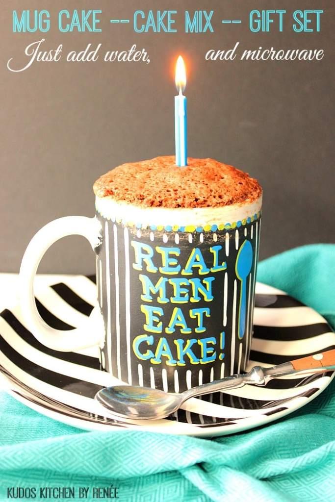 Cake mix and mug gift set