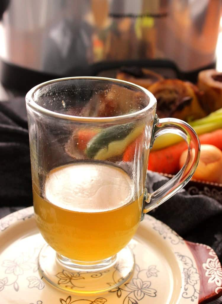 Nutritious bone broth made in the slow cooker.