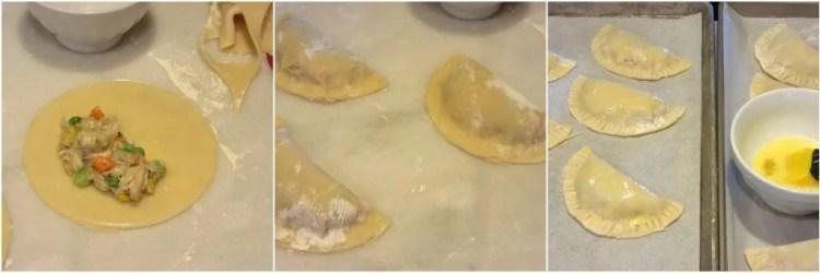 How to make chicken pot pie pockets