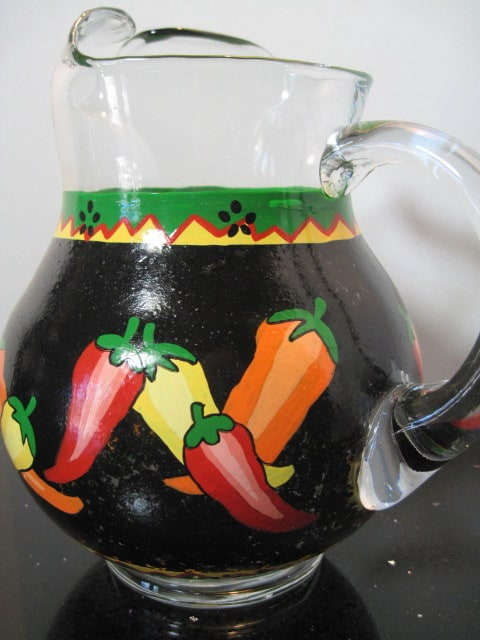 Chili Pepper Hand Painted Pitcher