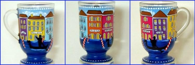 Hand Painted Venice, Italy Coffee Mug