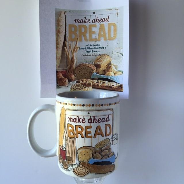 Make Ahead Bread Cookbook Cover Coffee Mug