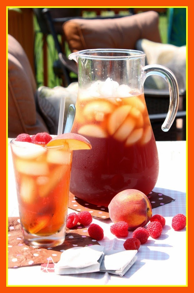 Sun Tea with Peach and Raspberry