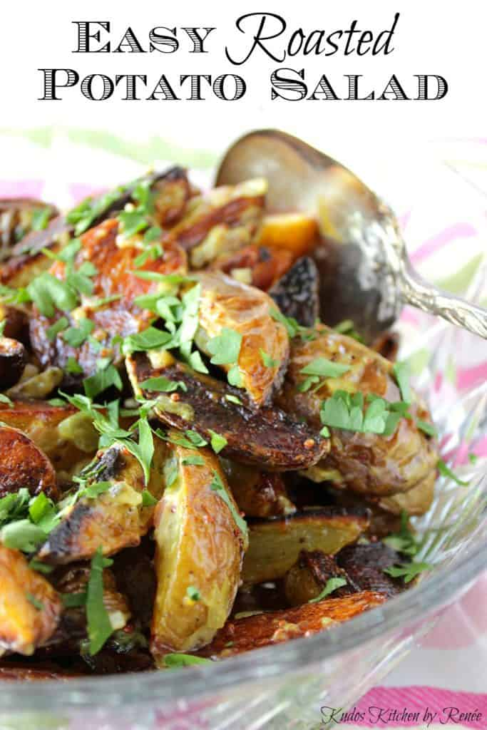 Easy Roasted Potato Salad with Mayo Relish Dressing