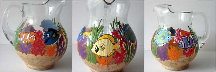 Under the Sea Hand Painted Pitcher