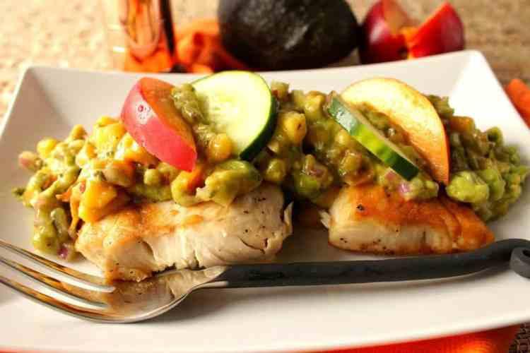 Seared Mahi Mahi Recipe with Avocado Salsa
