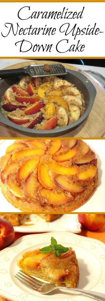 Upside Down Nectarine Cake