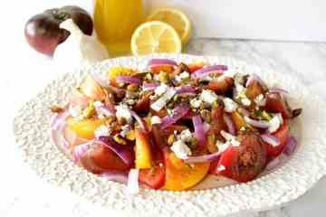 Colorful Heirloom Tomato Salad