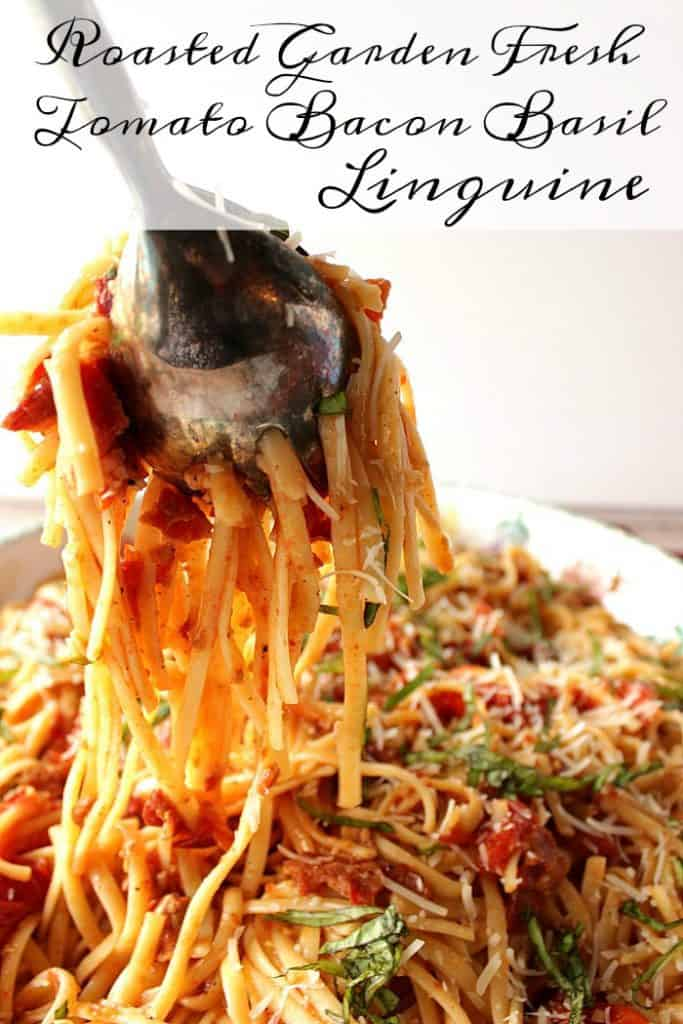 Linguine with Bacon and Basil