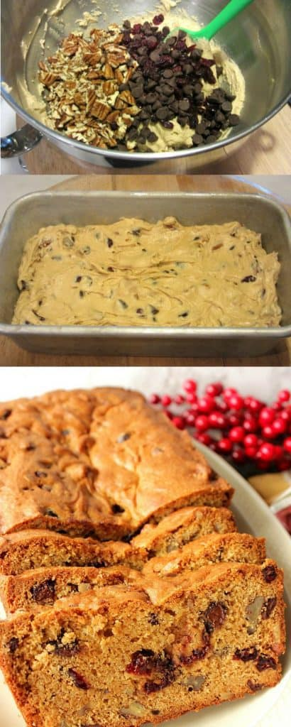 Cranberry Chocolate Quick Bread