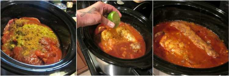 How to make slow cooker pork tacos.