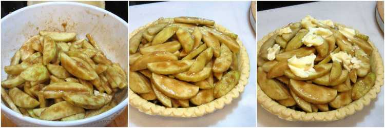 Apple Pie with Colorful Fall Leaves
