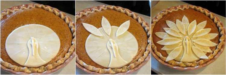 Turkey Crust Pumpkin Pie for Thanksgiving.
