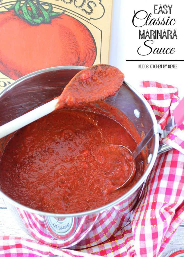 Easy Classic Marinara Sauce Recipe