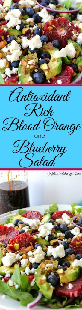 Antioxidant Rich Blood Orange and Blueberry Salad