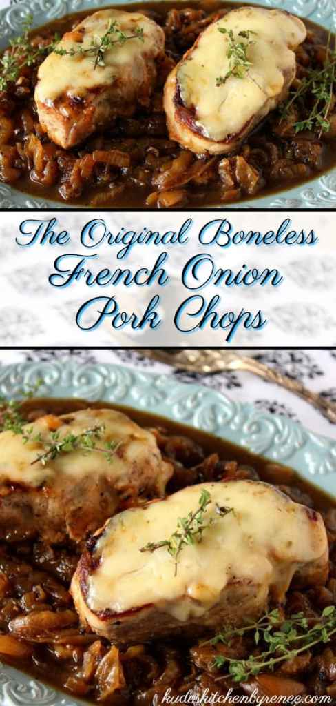 My French Onion Pork Chops recipe is super simple to prepare. It has all the flavors you love in a traditional French onion soup, but it's got a little more to sink your teeth into! :) - kudoskitchenbyrenee.com