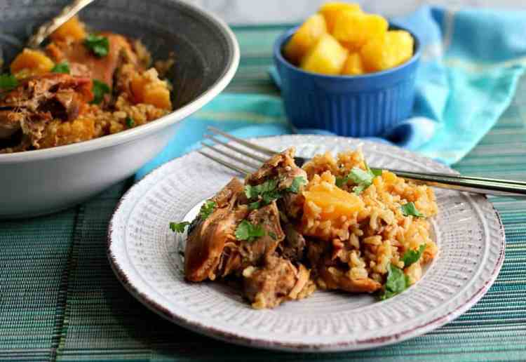 Slow Cooker Pineapple Coconut Chicken Thighs