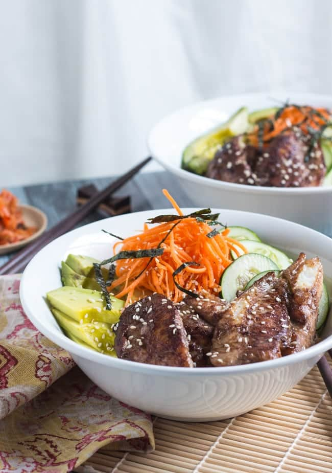 Scattered Sushi Rice Bowls - Weekly Meal Planning