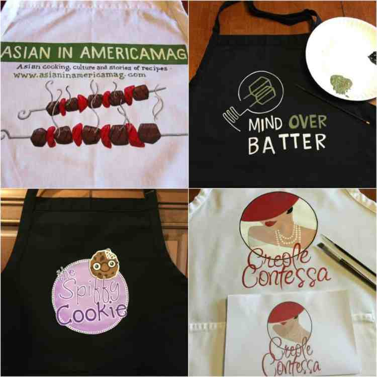 Hand Painted Food Blogger Logo Aprons