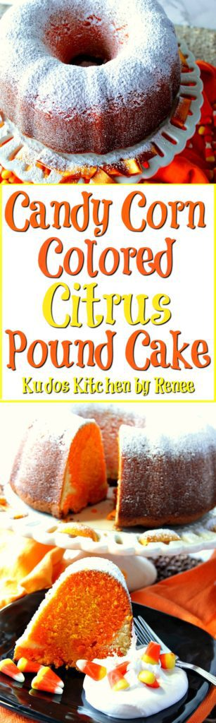 Candy Corn Colored Citrus Pound Cake Recipe | Kudos Kitchen by Renee