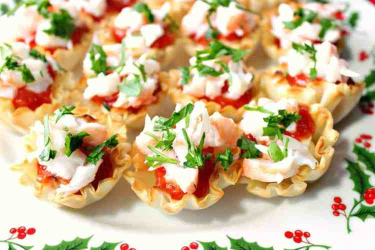 Festive Shrimp Cocktail Appetizer Bites with Homemade Cocktail Sauce | Kudos Kitchen by Renee