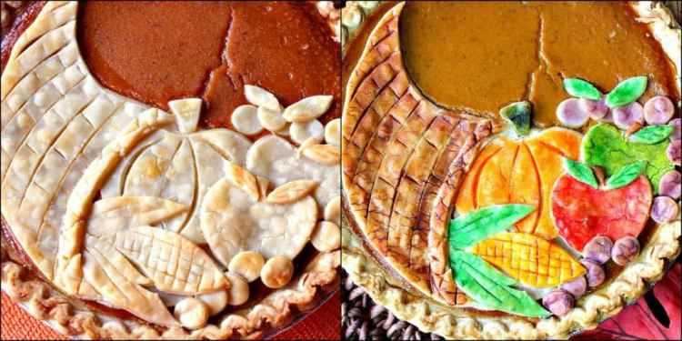 Festive Cornucopia Crusted Pumpkin Pie | Kudos Kitchen by Renee