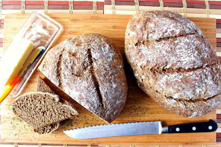 Old World Rustic Onion Rye Bread with Dill | Kudos Kitchen by Renee